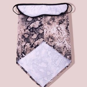 face mask Accessories - Snakeskin Mask Gaiter Scarf w/ Ear Loops